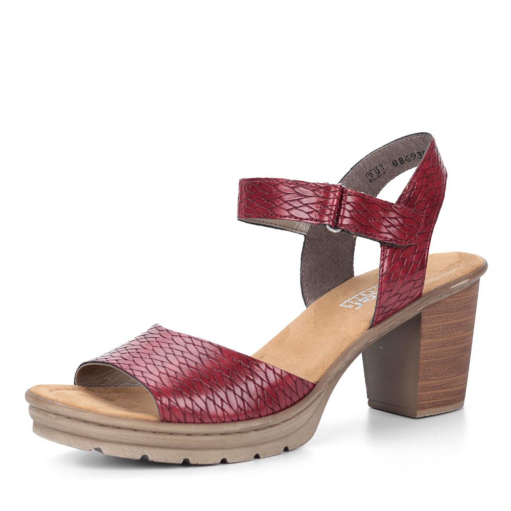 Бордовые босоножки на устойчивом каблуке