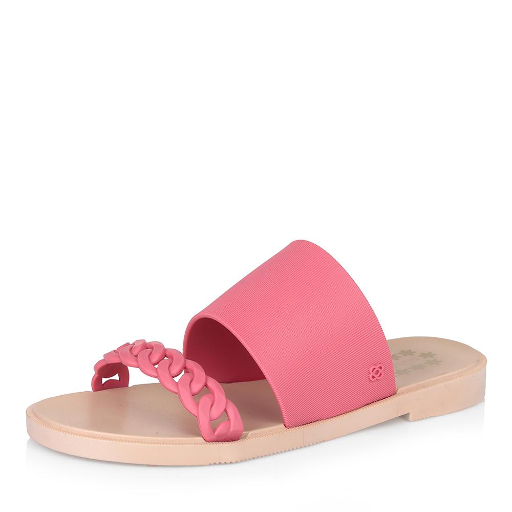 Розовые пластиковые шлепанцы фото