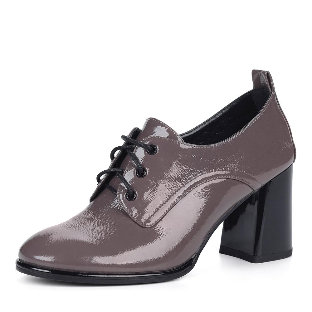 Темно-бежевые полуботинки на каблуке