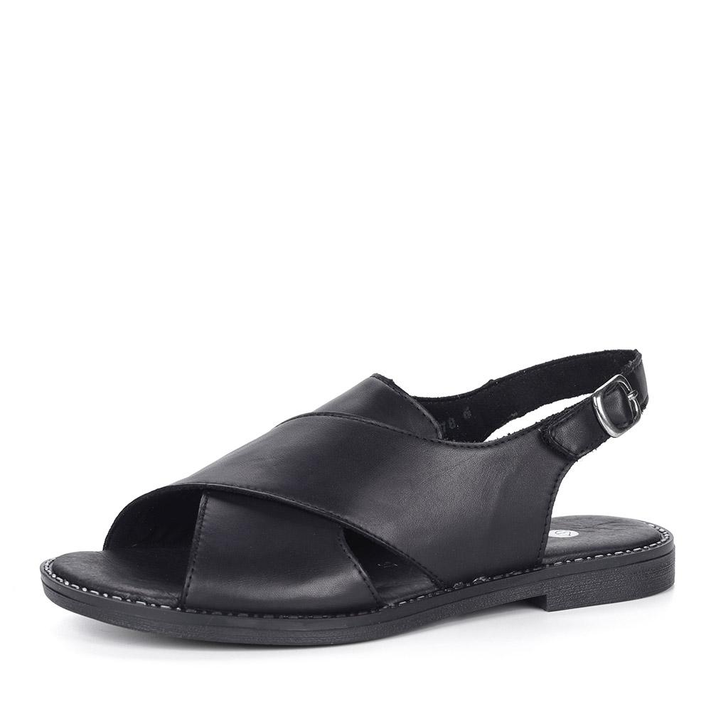 Черные сандалии из кожи