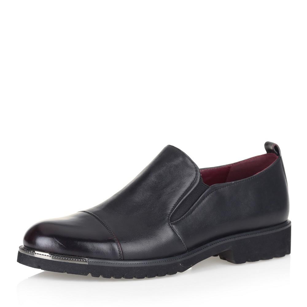 Купить со скидкой Черные полуботинки без шнуровки