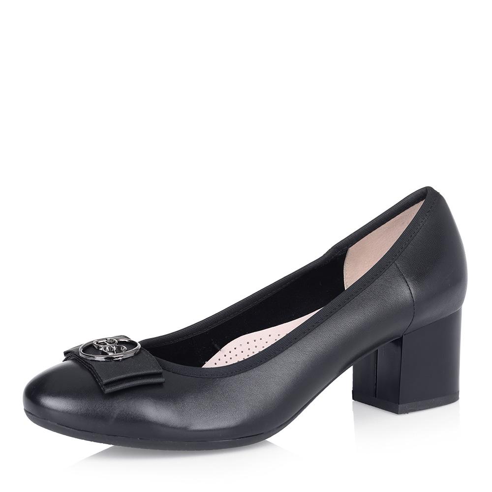 Черные туфли-лодочки с бантом фото