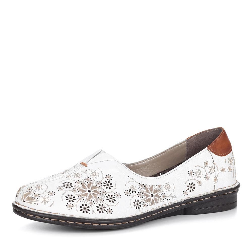 Белые туфли на танкетке от Rieker