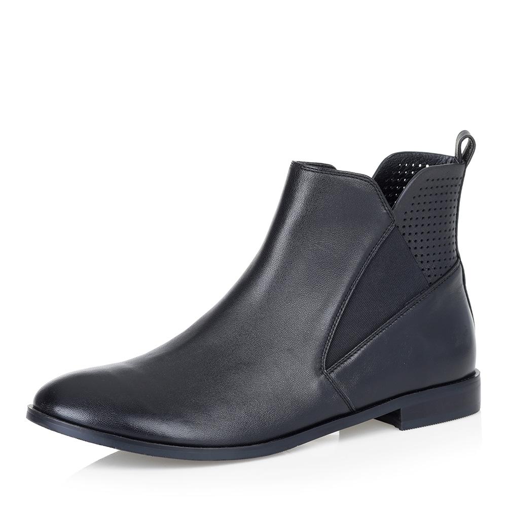 Черные ботинки из гладкой кожи фото