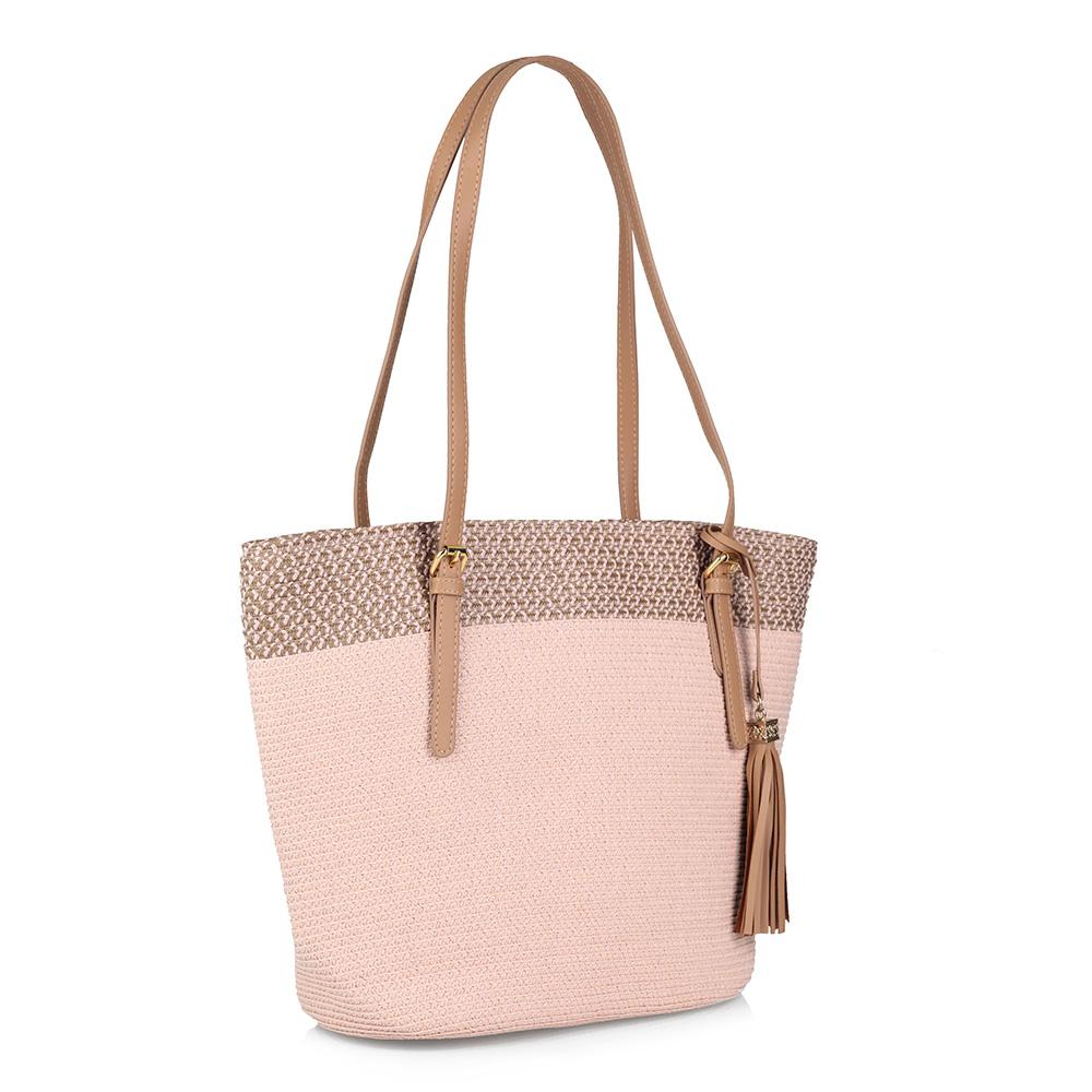 Розовая пляжная сумка фото