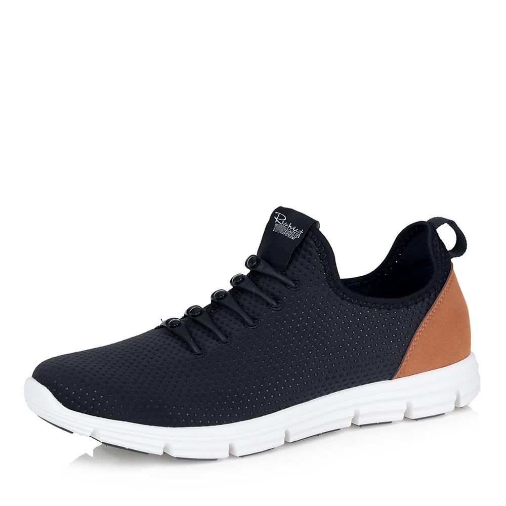 Черные текстильные кроссовки фото