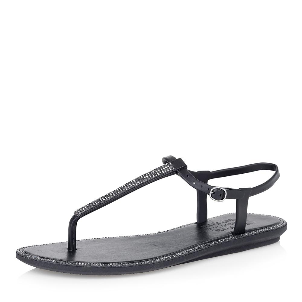 Черные пластиковые сандалии фото