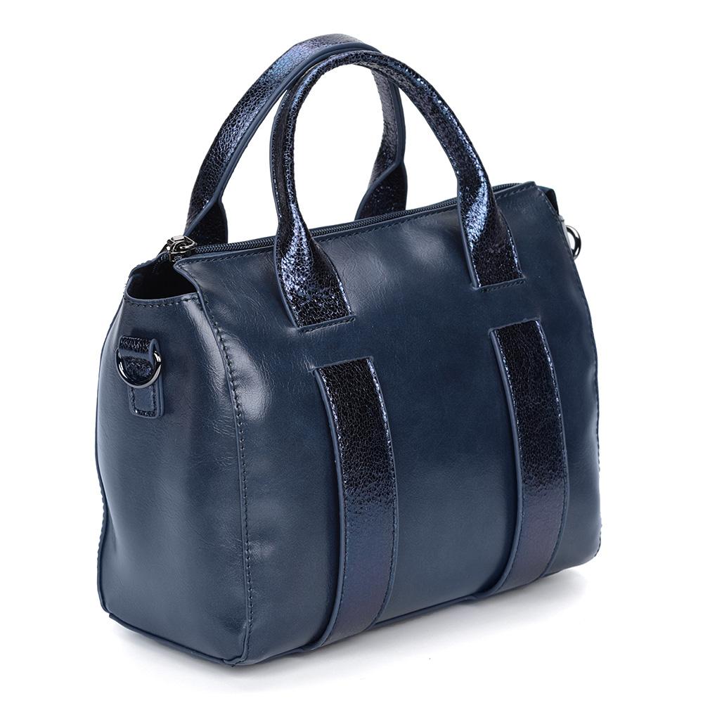 Синяя сумка с дополнительной ручкой фото