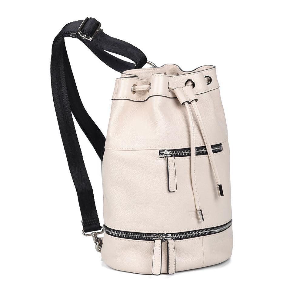 Белый рюкзак из кожи фото