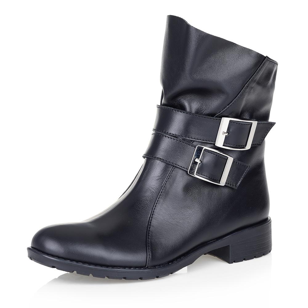 Кожаные ботинки с двумя пряжками