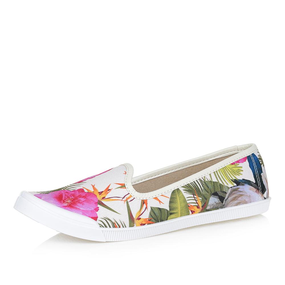 Текстильные туфли с ярким принтом