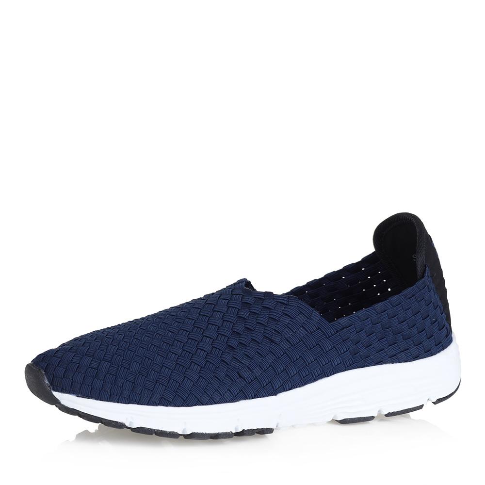 Синие кроссовки без шнуровки фото