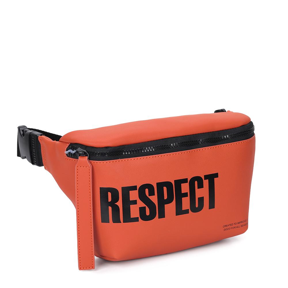 Оранжевая спортивная поясная сумка