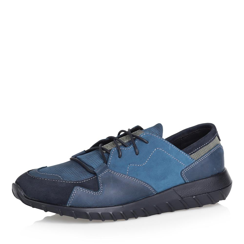 Синие кроссовки из нубука фото
