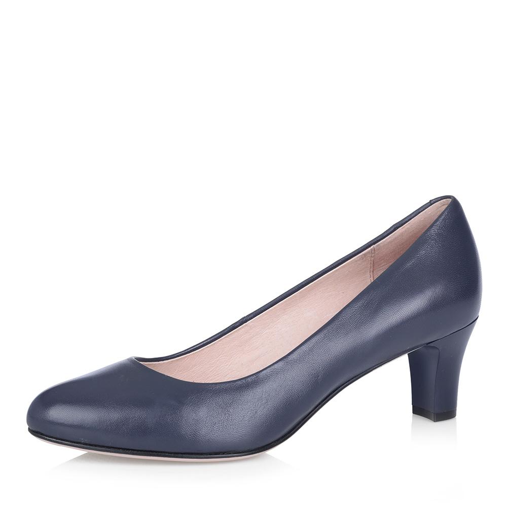Синие кожаные туфли-лодочки
