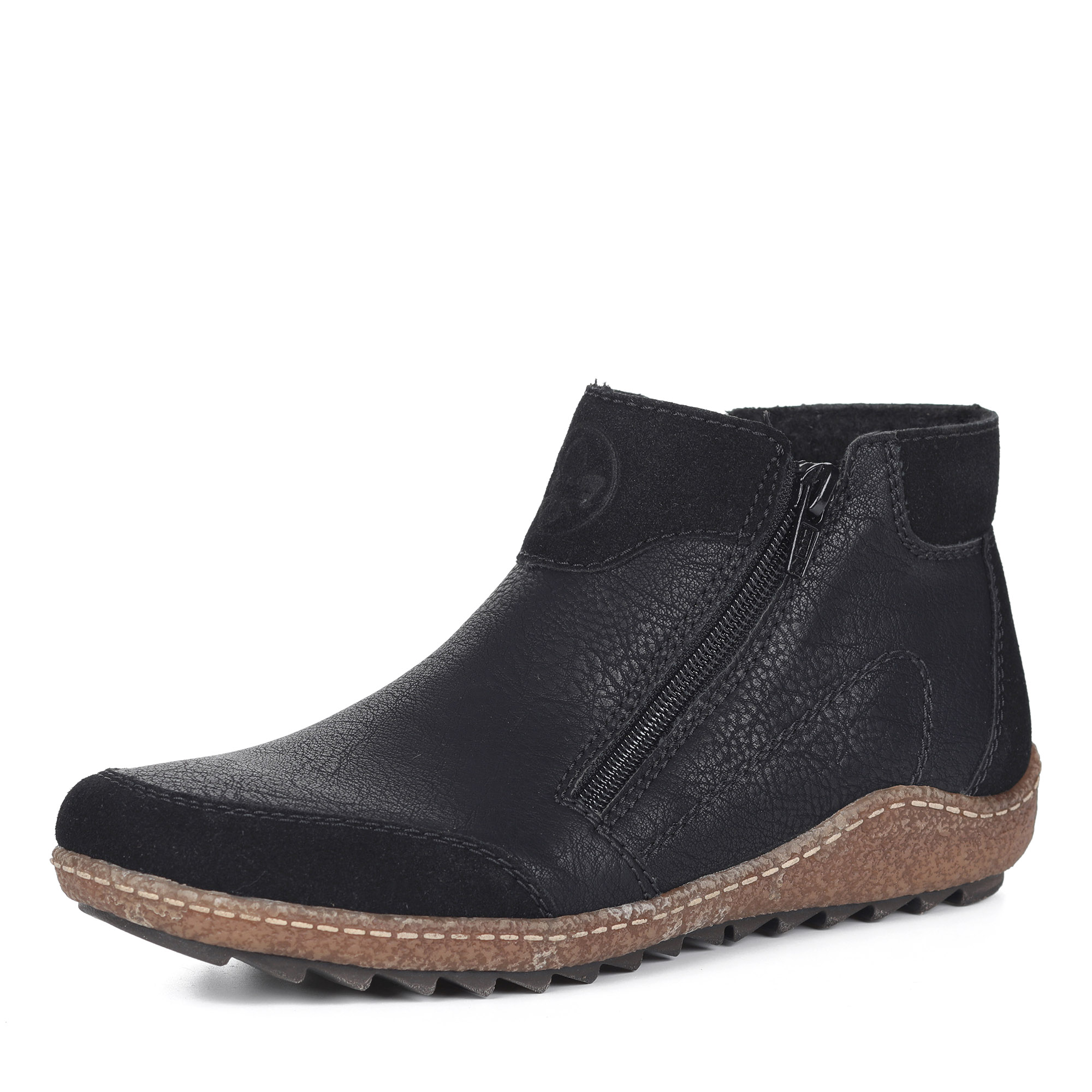 Черные ботинки на шерсти