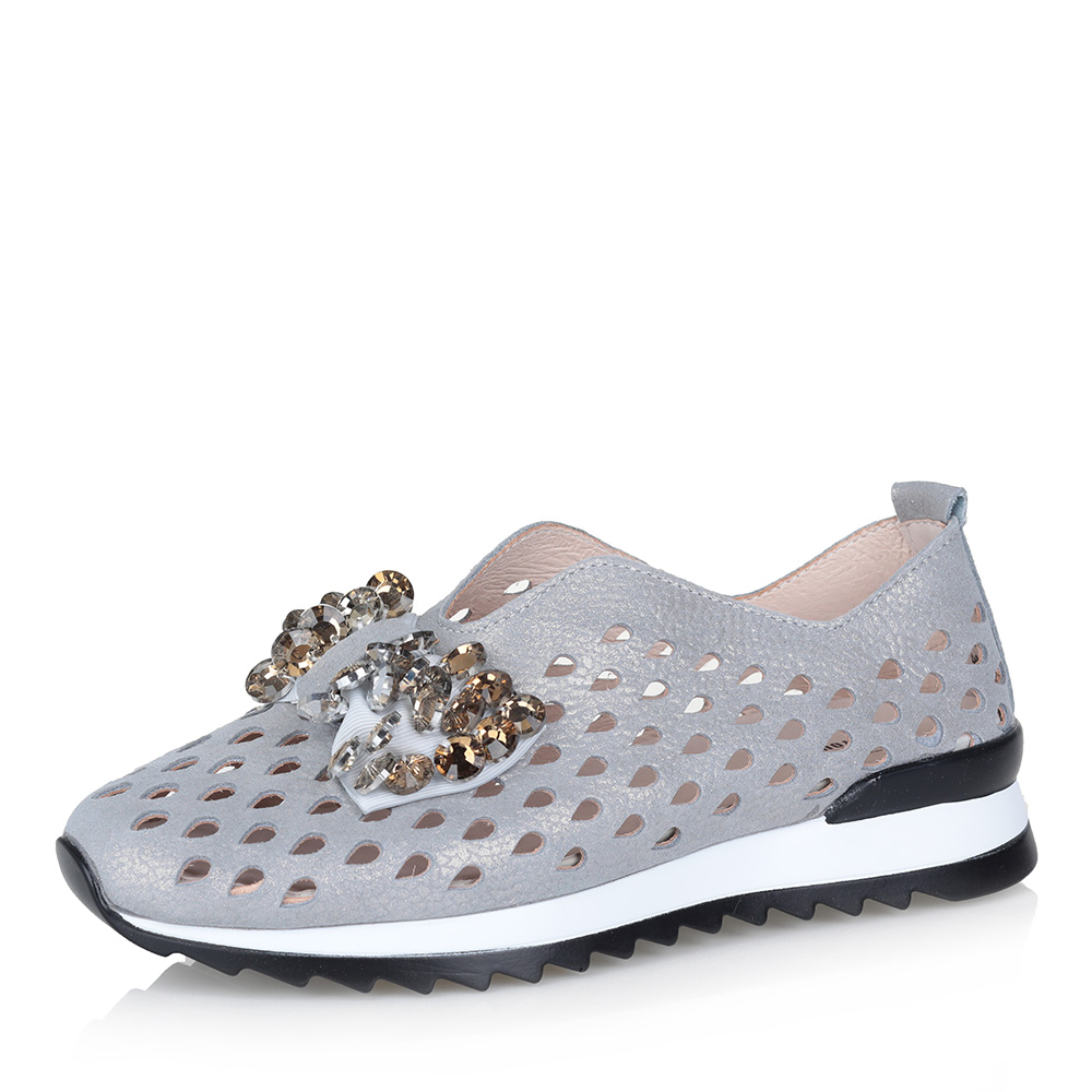 Кожаные туфли с крупной перфорацией