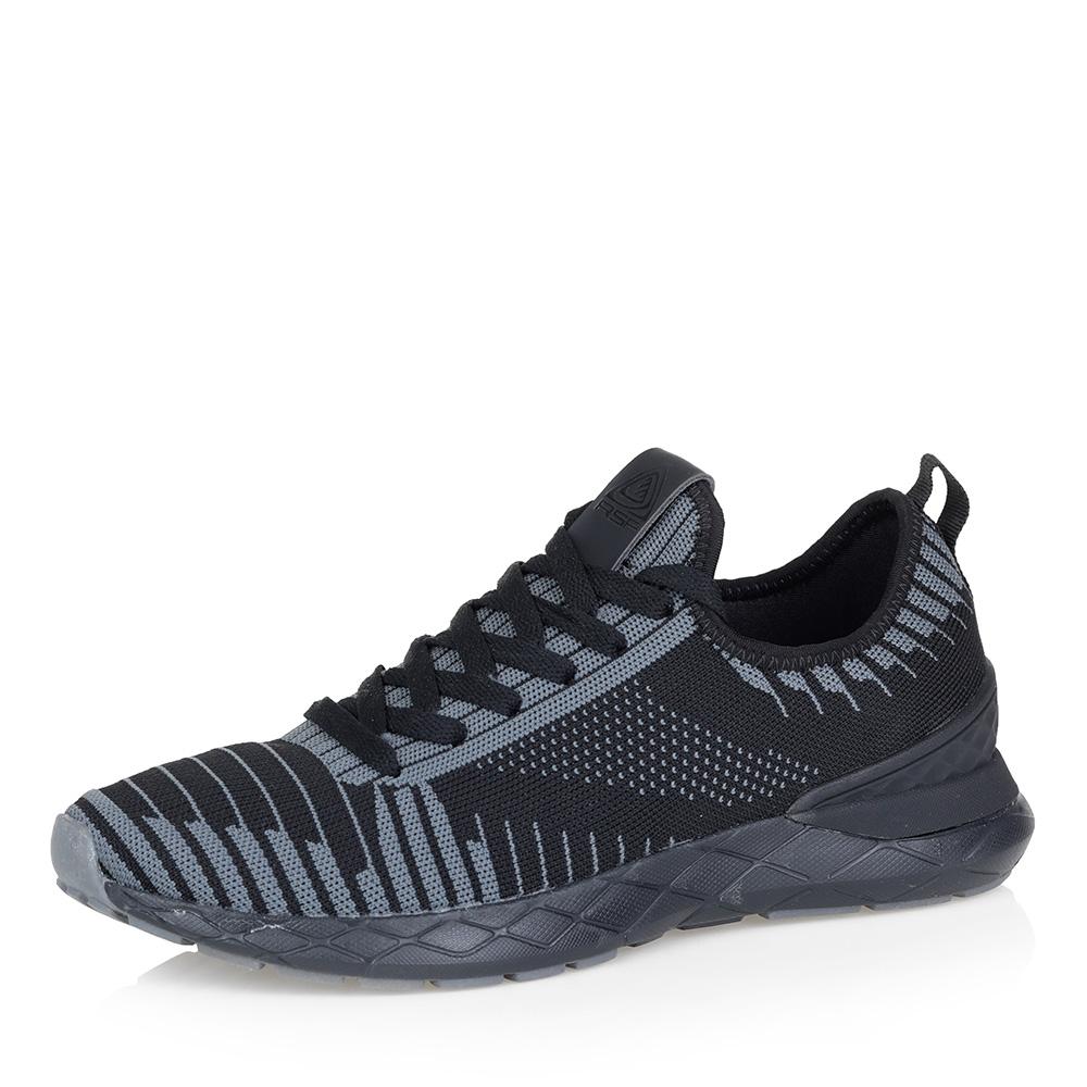 Черные комбинированные кроссовки фото
