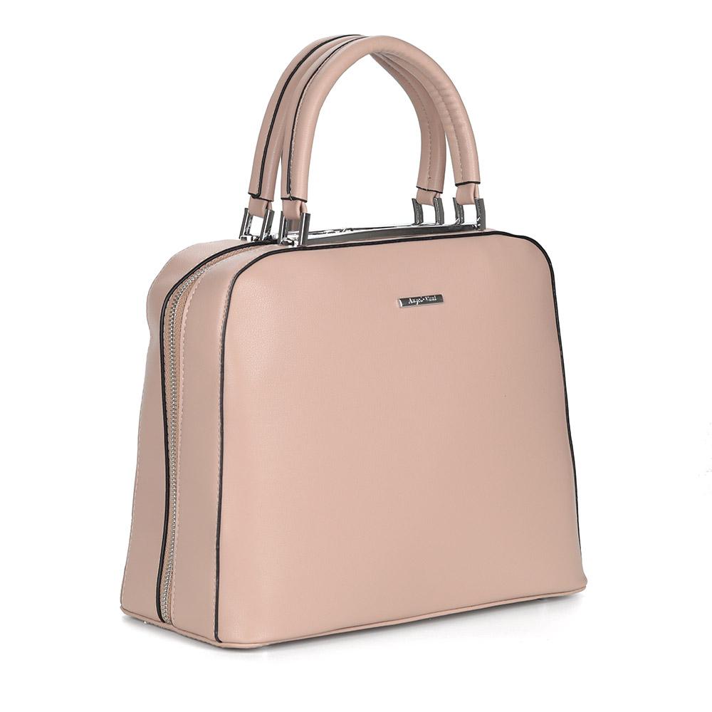 Розовая сумка из экокожи
