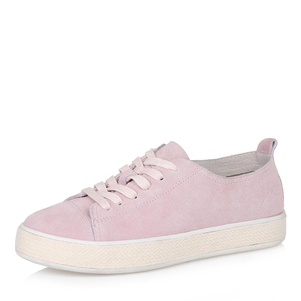 Розовые кеды на утолщенной подошве фото