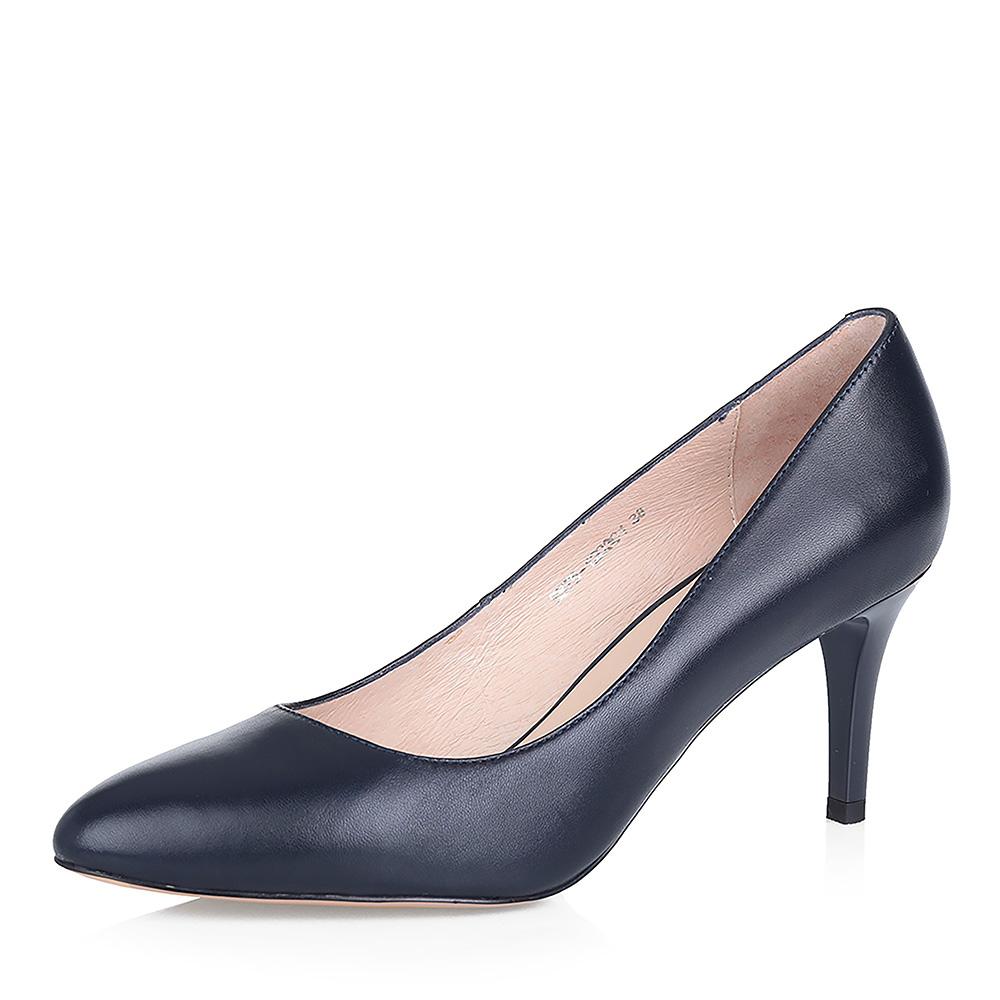 Кожаные туфли-лодочки на тонком каблуке