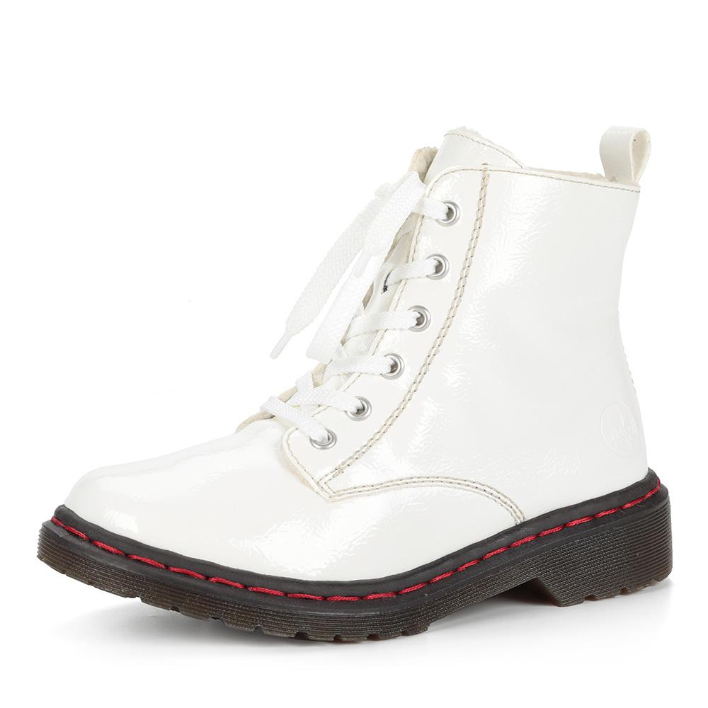 Белые ботинки из экокожи
