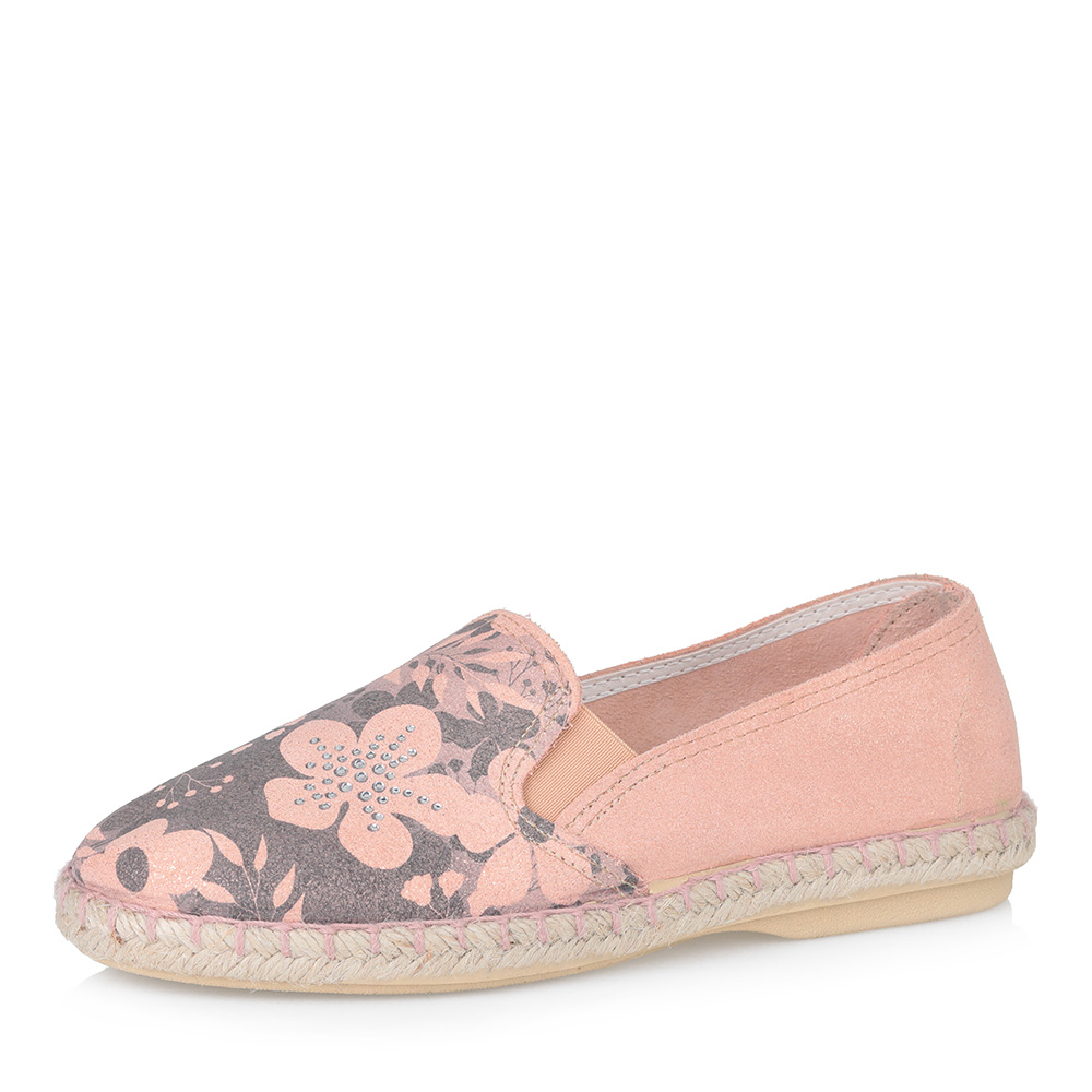 Розовые эспадрильи с цветочным принтом фото