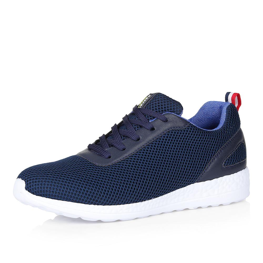 Синие кроссовки из текстиля фото
