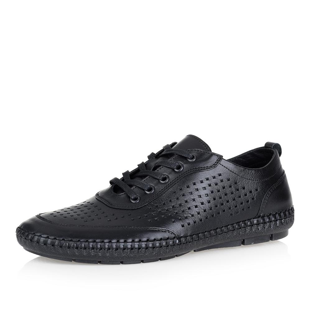 Черные кроссовки с перфорацией фото