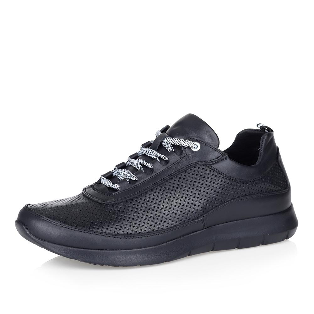Кроссовки с перфорацией в черном цвете фото