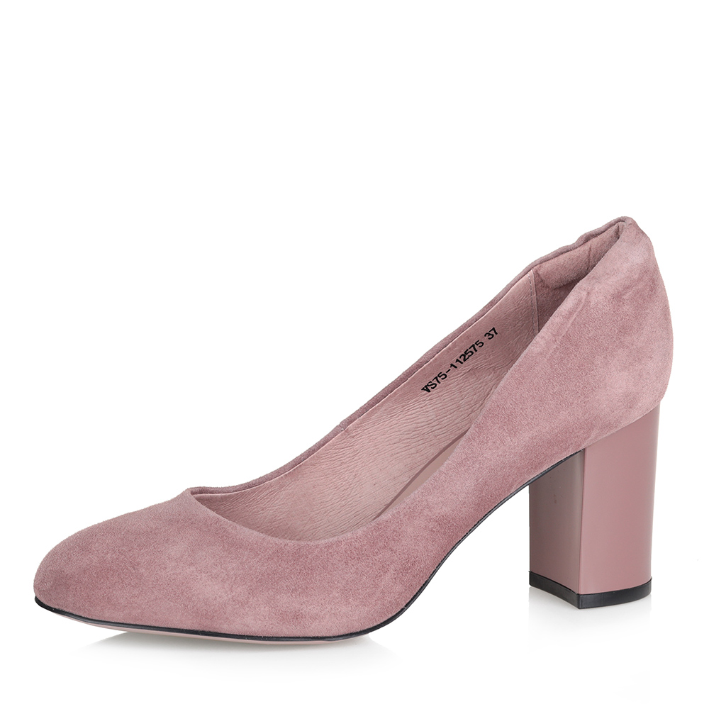 Розовые туфли-лодочки на высоком каблуке