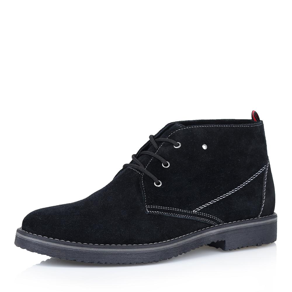 Купить со скидкой Ботинки чёрного цвета на меху