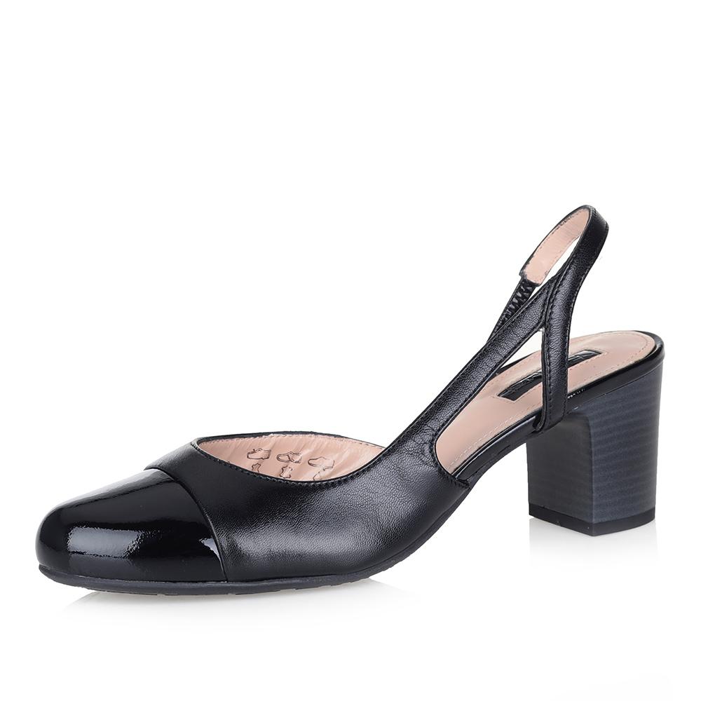 Черные босоножки на устойчивом каблуке фото