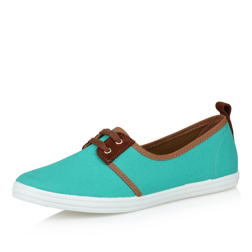 Текстильные туфли с декоративной шнуровкой
