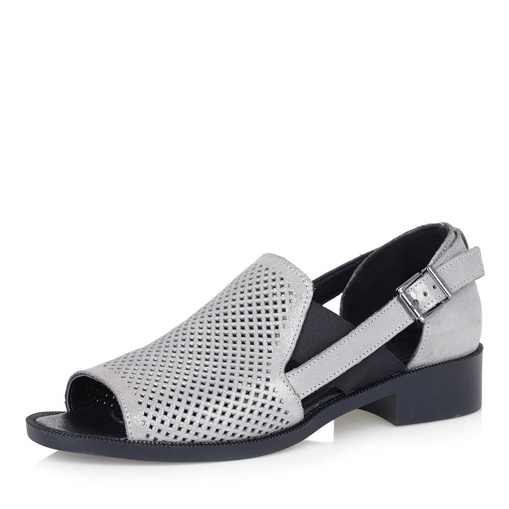 Серебристые открытые туфли фото