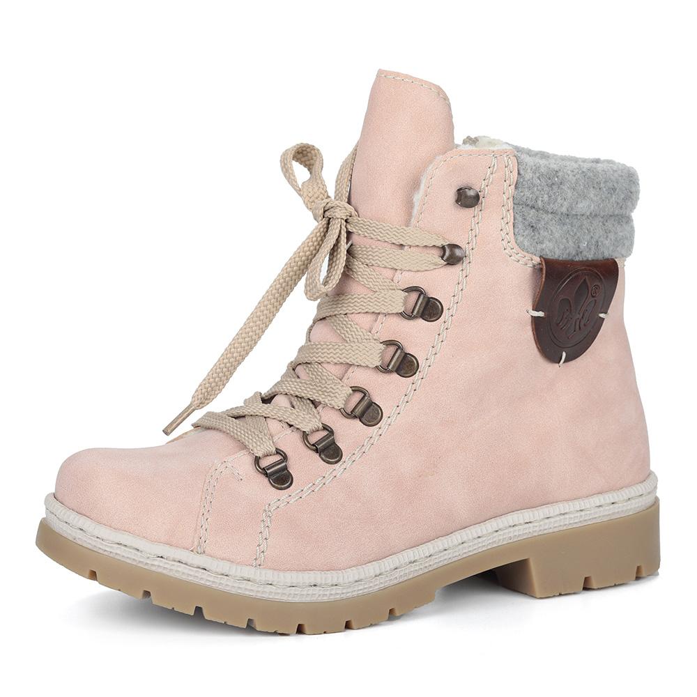 Розовые ботинки на шерсти