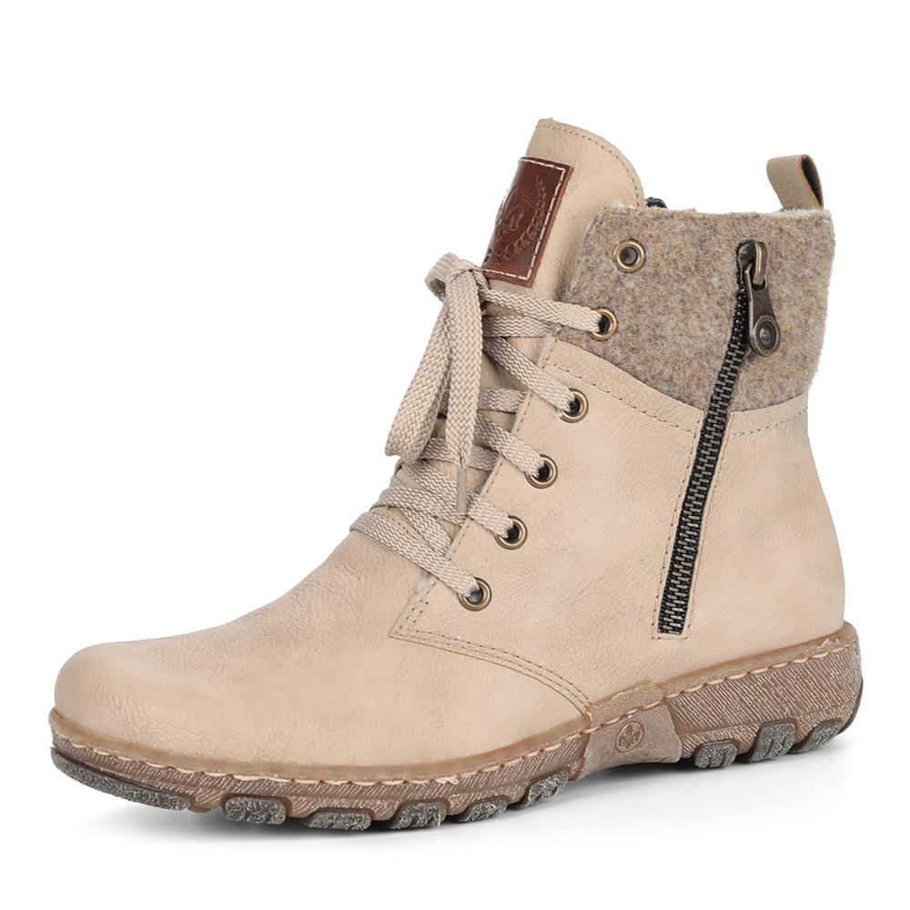 Бежевые комбинированные ботинки