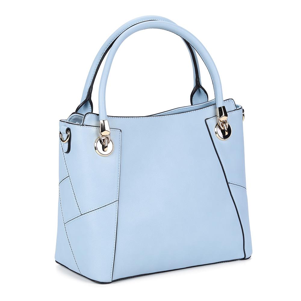Классическая голубая сумка с дополнительной ручкой фото