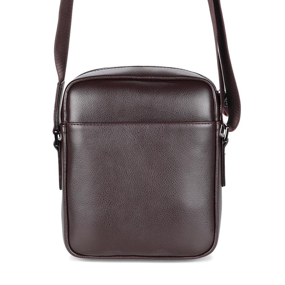 Коричневая сумка на плечо из кожи