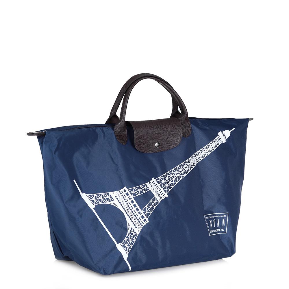 Сумка шоппер в синем цвете фото