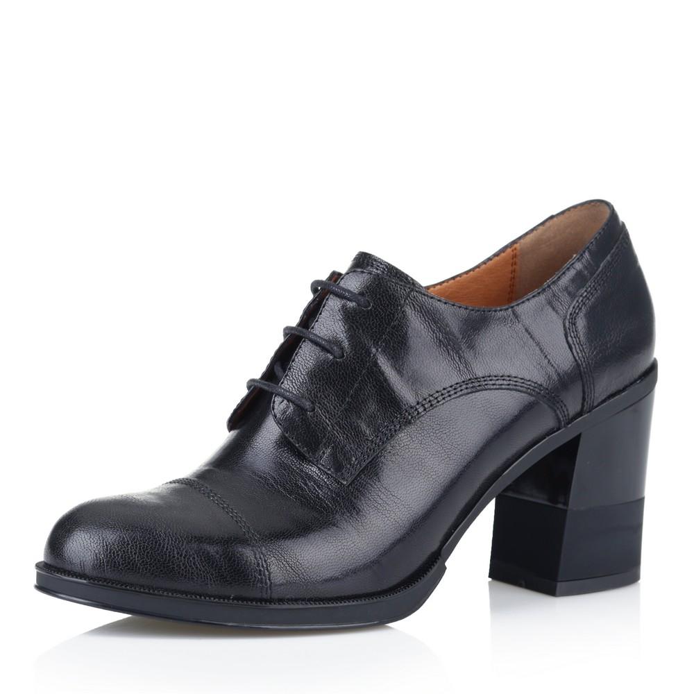 Купить со скидкой Черные ботильоны на комбинированном каблуке