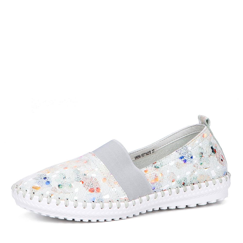 Туфли с цветочным принтом на рифленой подошве