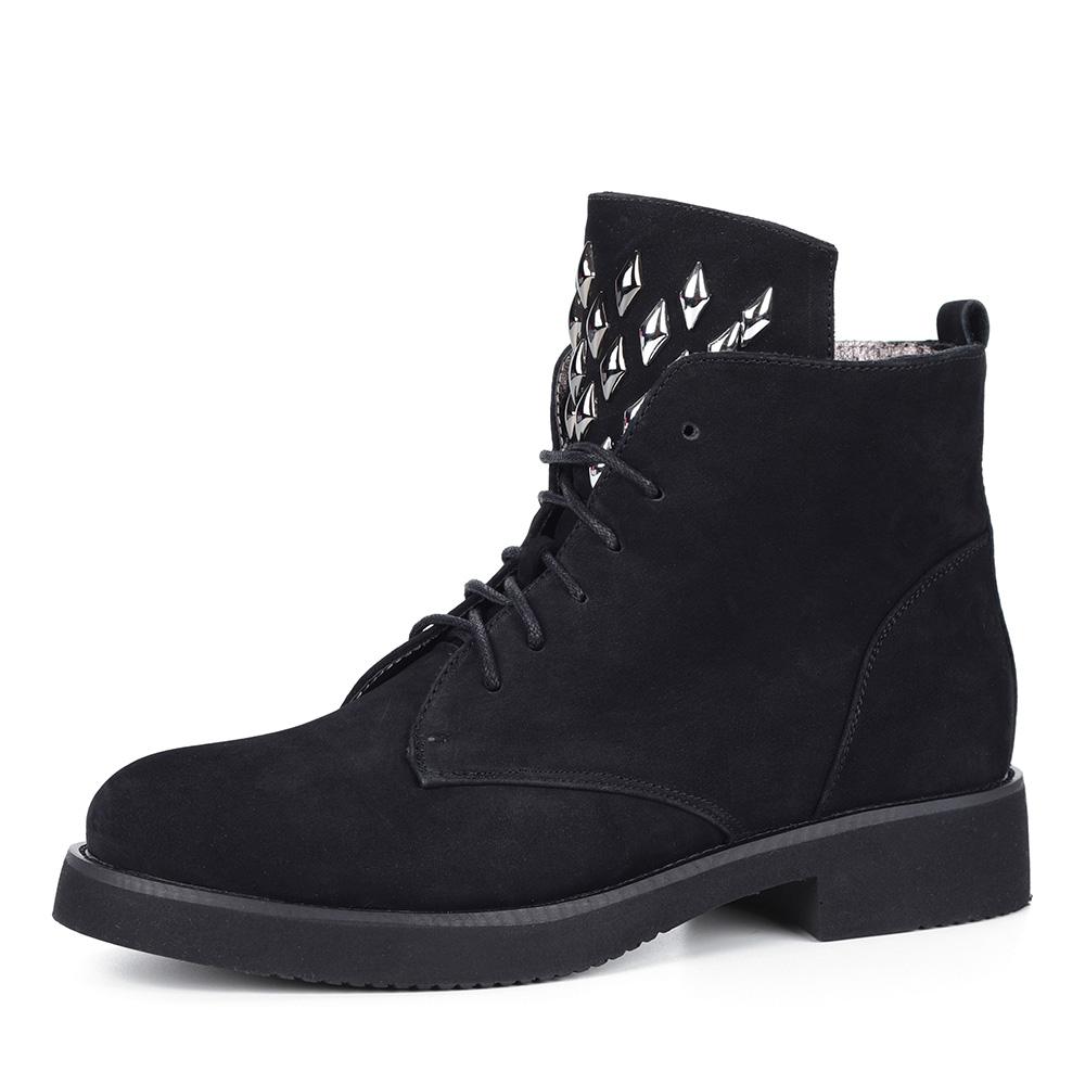 Черные декорированные ботинки фото