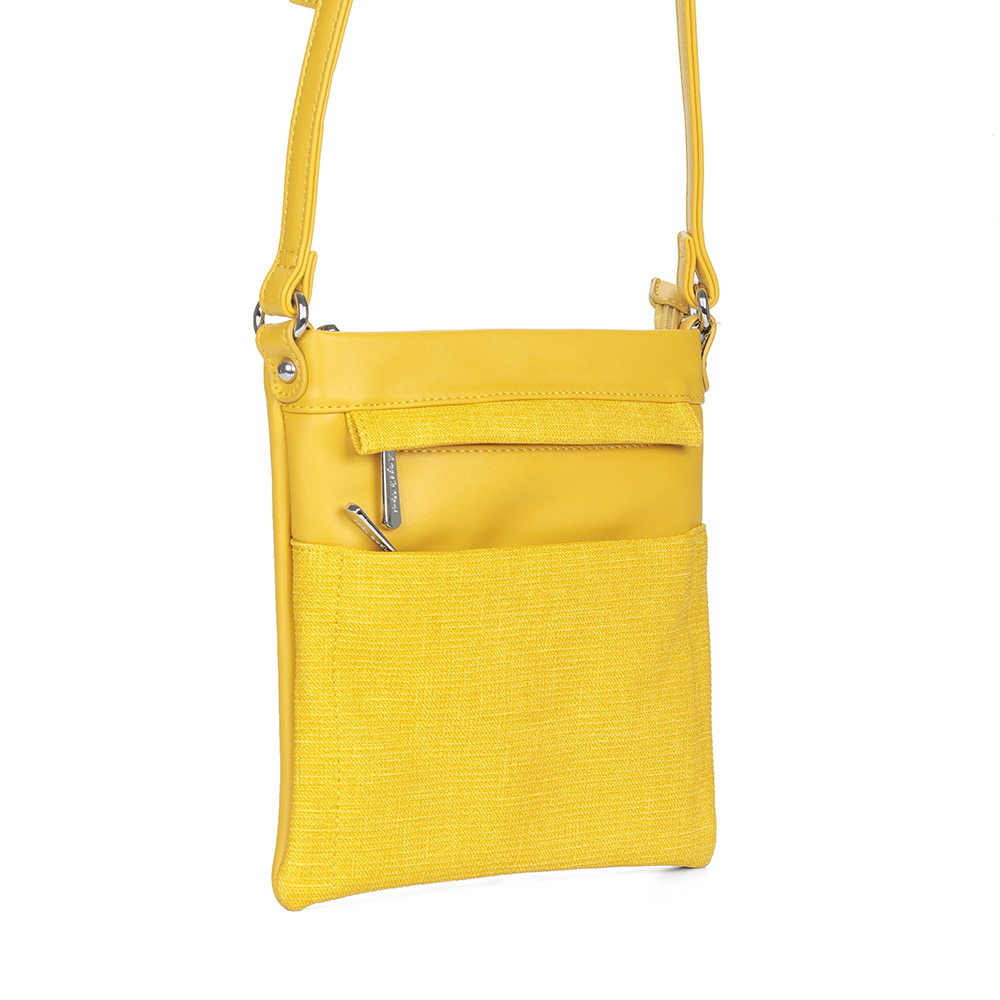 Желтая сумка через плечо