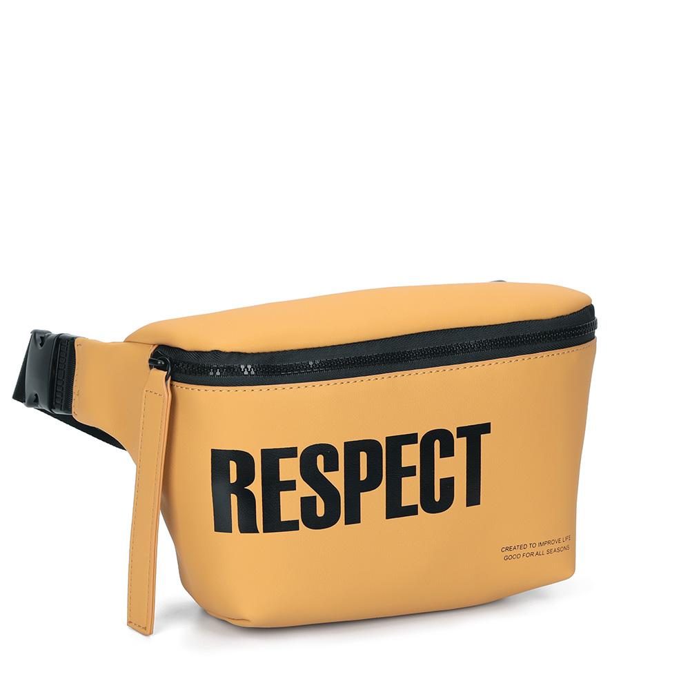 Желтая спортивная поясная сумка