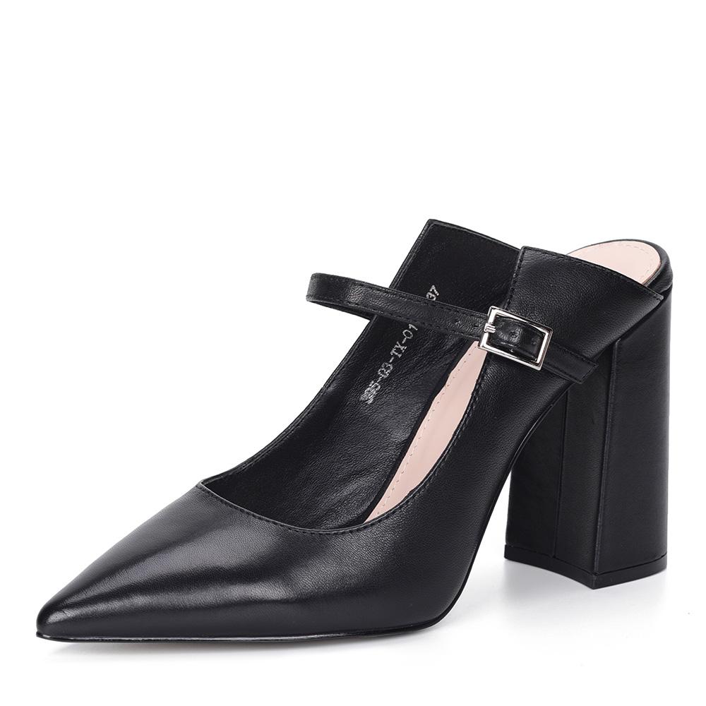 Черные кожаные туфли с открытой пяткой от Corso Como