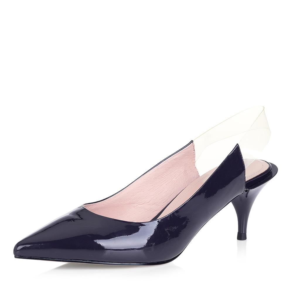 Фиолетовые открытые туфли с прозрачной вставкой Respect