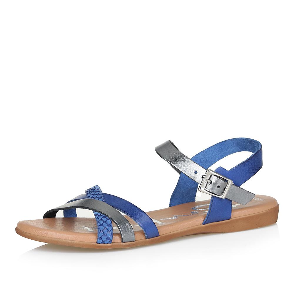 Синие сандалии с перекрестными ремешками фото