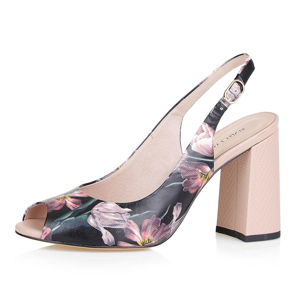 Босоножки с цветочным принтом на высоком каблуке Respect