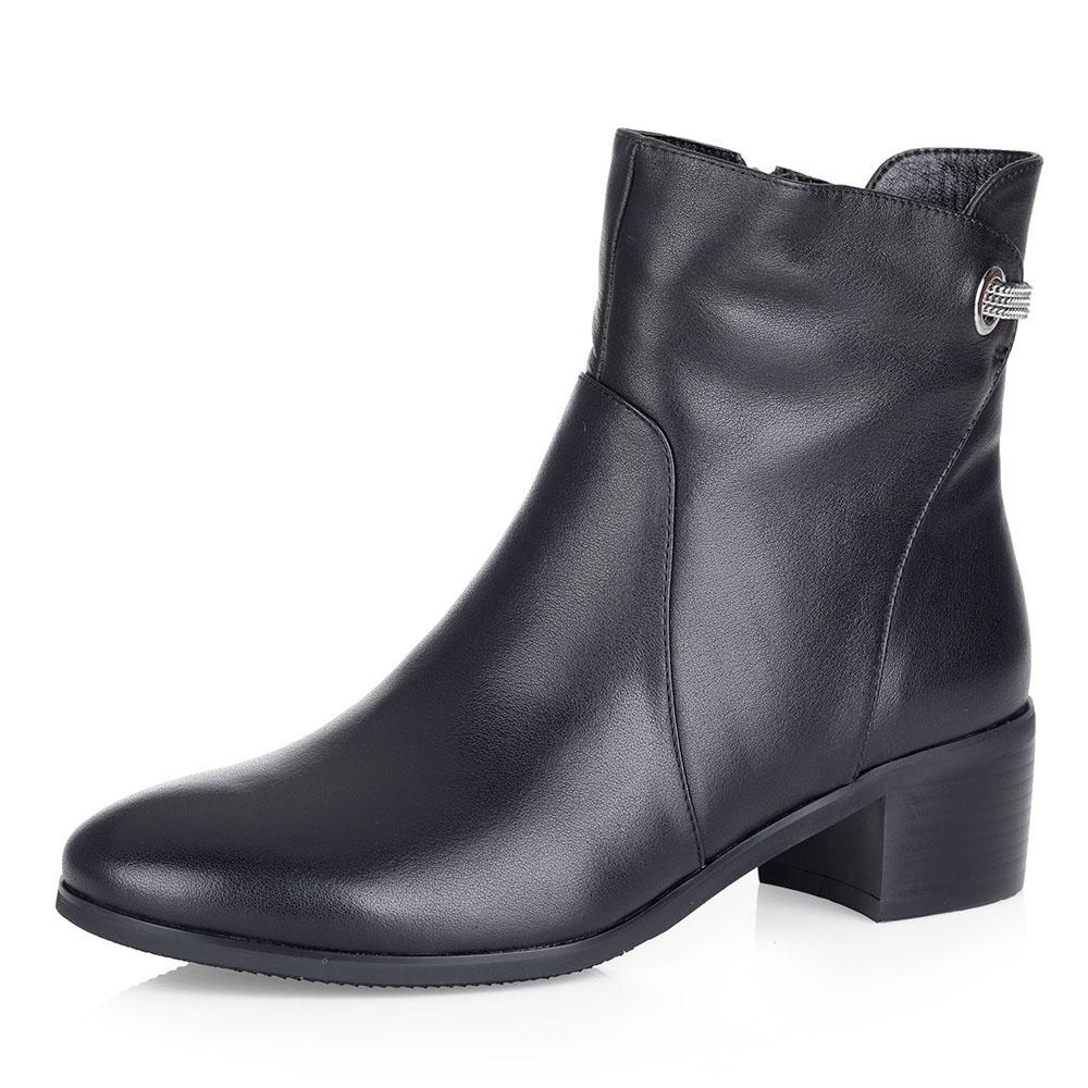 Черные ботинки на меху